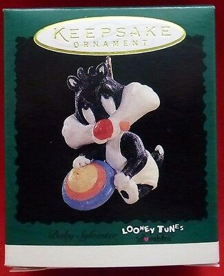"Hallmark Miniature Ornament ""Baby Sylvester"" Looney Tunes Lovables 1996 Mint"