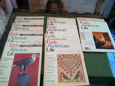 10 backissues EARLY AMERICAN LIFE 1972-1979