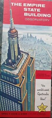Empire State Building Obervatory brochure, early 1960s, illustrated