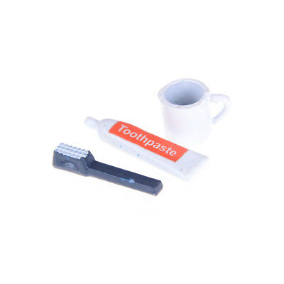 Miniature Toothbrush Set  for 1:12 Scale Dollhouse Bathroom Accessories Je