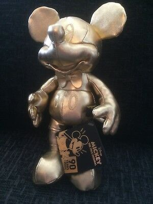 Mickey Mouse Gold Plush 90th Birthday
