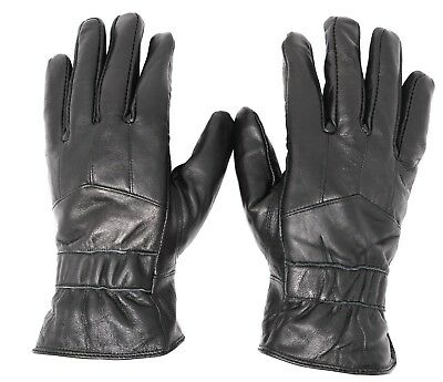 New Men's Classy 100% Leather Winter Warm Gloves w/ Fur Lined Driving Gloves