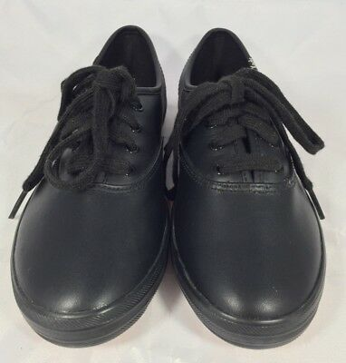 reputable site a067f 7d3cc KEDS CHAMPION-CANVAS CVO Sneakers, Women's US Size 4W, Black Leather EUC!