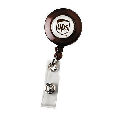 "new UNITED PARCEL SERVICE 30"" self-retracting RETRACTABLE BADGE HOLDER clip"