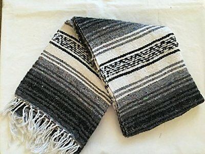MEXIMART's Authentic Mexican Falsa Blanket Hand Woven Black
