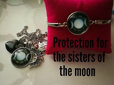 Code 384 Protection for the Sisters of the moon infused necklace n bracelet set