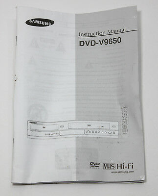 Samsung DVD V9650 Original Owners Manual for VCR Combo