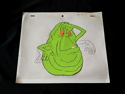 The Real Ghostbusters 1987 Production SLIMER  Cel and Pencil DiC