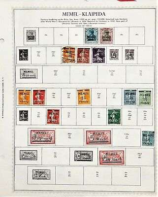 Memel Germany Colony Lithuania -Stamp Collection on Minkus Supreme Global Pages