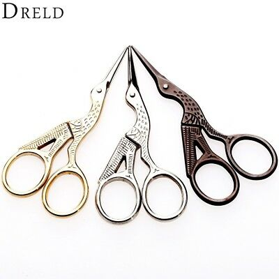Vintage Diy Crane Shape Gold Tailor Sewing Embroidery Stainless Steel Scissors Unique For Crafts Handmade Diy Accessories Cutting Supplies