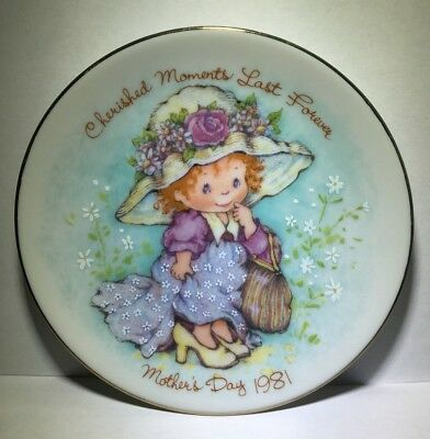"""AVON Mothers Day 1981 Plate """"Cherished Moments Last Forever"""" Crafted in Japan"""