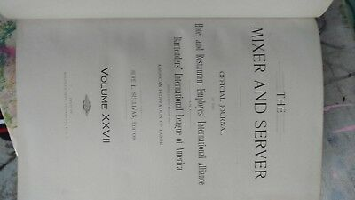 The mixer and server 1918  volume 27 book bartender