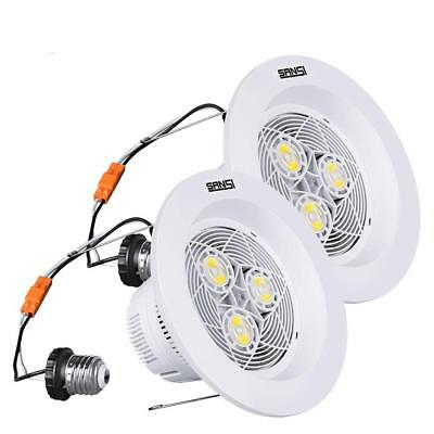 SANSI 1800lm 15W LED Downlight 2Pack 4000K Bright Recessed Light (150W Equiv.)