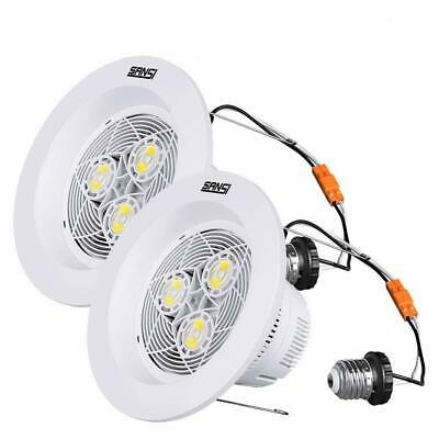 SANSI 1800lm 15W LED Dimmable Downlights 2Pack 50W Equiv Retrofit Recessed Lamps