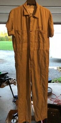 Vintage LEE UNION-ALLS Coveralls Overalls Short Sleeve Mechanic Gas Oil 44 R