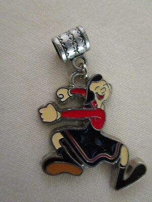 Popeye the sailor mans girlfriend Olive Oyl charm