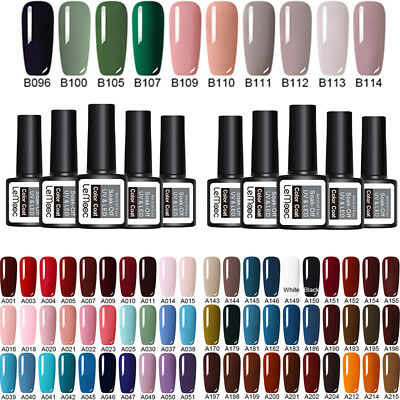 LEMOOC 5 Bottles Esmalte de uñas UV Gel Nail Art Gel Soak off No Wipe Top Coat