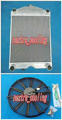 Aluminum radiator+Fan for Ford 2N / 8N / 9N tractor w/flathead V8 engine Manual