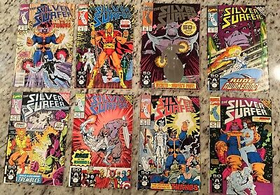 Silver Surfer Lot! Thanos! Infinity Gauntlet! 38 46 50 51 52 54 55 56! 12 Pics!