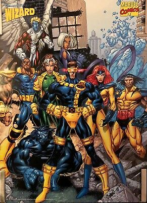 X-Men Comic Poster 1997 Marvel Free Chibi, Trading, Card & Sticker Included!!