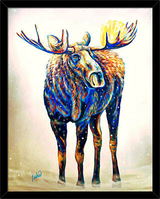Modern Home decor Prints Animal oil painting art on canvas Color Leopard zs133