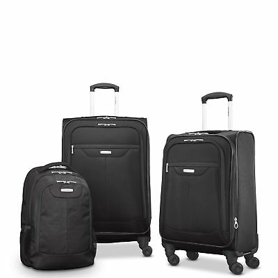 "Samsonite Tenacity 3 Piece Luggage Set - Black, Blue, 25"", 21"", Backpack"
