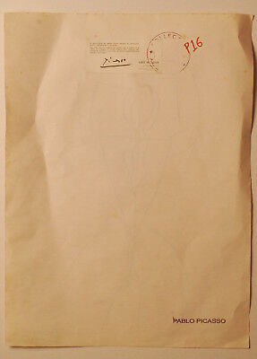 Pablo Picasso Drawing Signed Ink (P16)