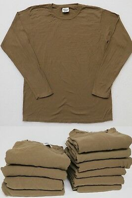 RESALE LOT of 10 LADY COMFORT COLORS LONG SLEEVE BROWN TEE T-SHIRTS NWOT M & L