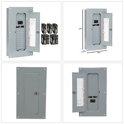Main Breaker Plug-On Neutral Load Center with Cover 100 Amp 24-Space 48-Circuit