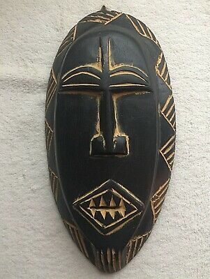 Ghana Collection Handcrafted Wood Mask Foase Teeth Africa Tribal Art