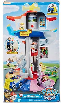 Paw Patrol My Size Lookout Tower Chase Vehicle +2 Figures Included Free Postage