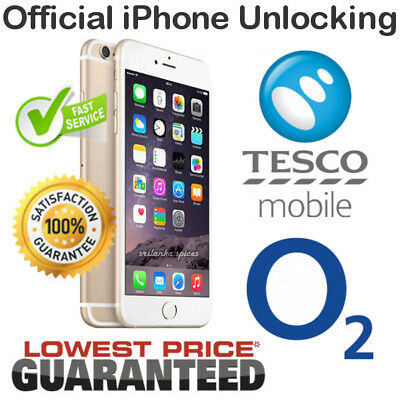 NETWORK UNLOCK CODE for O2 & TESCO UK iPhone 4s/5/5s/5c/se/6/6+/6s/6s+/7/7+/8/8+