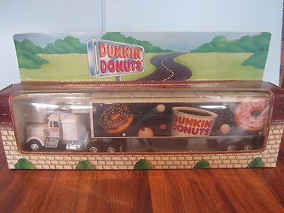 RARE~1994 DUNKIN DONUTS TRACTOR AND TRAILER TRUCK O AND O27 GAUGE DIECAST METAL
