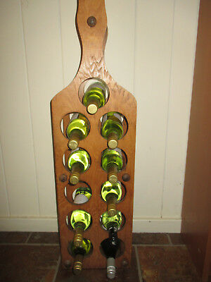Unique Vintage Timber Wine Rack