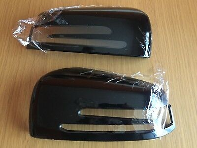 Gloss Black Wing Mirror Covers Mercedes Benz C Class W204 2008-2014 C63 Amg