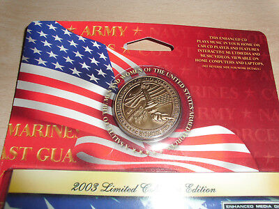 """US-Army Medaillon""""""""A Salute to the United States Armed Forces  2003"""" + CD in OVP"""