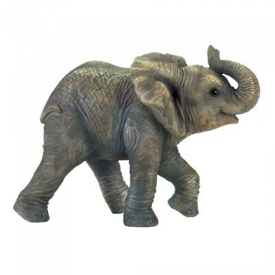 NEW Cute ELEPHANT STATUE ACCENT SAFARI ANIMAL INDOOR OUTDOOR DECOR 10018250
