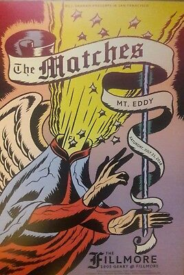 Mint The Matches Fillmore Poster 2018 Mt Eddy