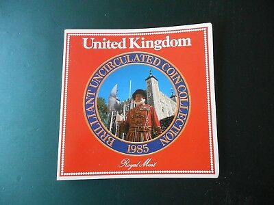1985 United Kingdom 8 Coin Collection Royal Mint Club Uncirculated Set--free S&H