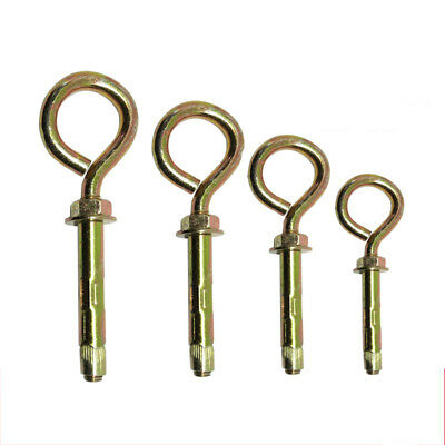 M8 M12 Heavy Duty Closed Hook Eye Anchor Expansion Bolts Zi-Plated For Mounting