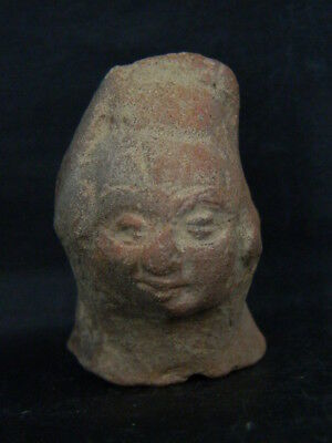 Ancient Teracotta Head Bactrian C.300 BC  #TR966