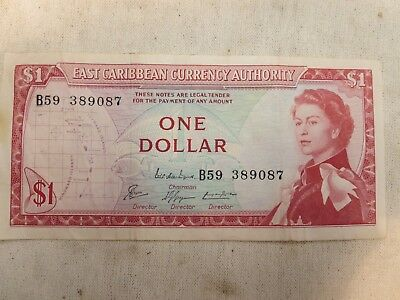 East Caribbean States Currency Authority, ONE DOLLAR B59 389087