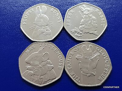 50p Mrs Tittlemouse, Flopsy Bunny, Tailor of Gloucester, Peter Rabbit  2018 New