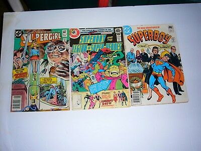 Lot of 3 Comics Superboy Aug 8  - Supergirl 10 Aug  7055