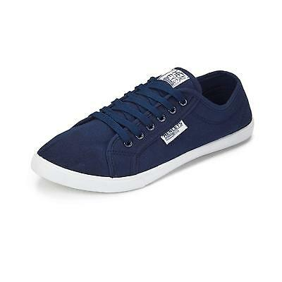 Mens Henleys Kenyon Canvas Shoes Designer Lace Up Plimsoll Casual Trainers