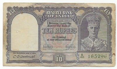 India 10 Rupees 1943 Free Shipping