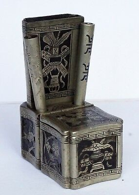 RARE ~ 19th Century ~ Masters Ink Box w/ Pen Holders ~ Marked