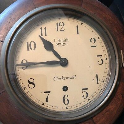 Lovely, circular, vintage wall clock J Smith Smiths Astral Clerkenwell