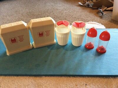 Lot Of 3 Pair Vintage Red Salt And Pepper Shaker Sets