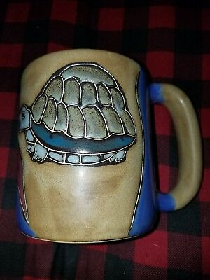 Deer Valley Coffee Mug Turtles Handmade Art Pottery Free Shipping